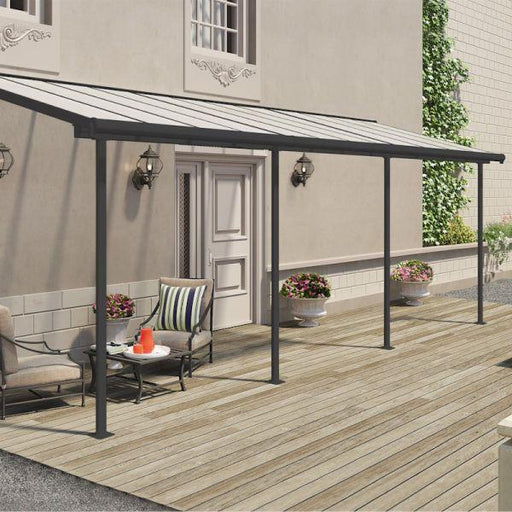 Palram Sierra Patio Cover 2.3m x 6.9m Grey Clear