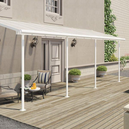 Palram Sierra Patio Cover 2.3m x 6.9m White Clear