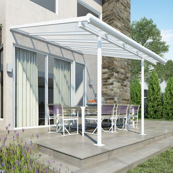 Palram Sierra Patio Cover 3m x 3.05m White Clear