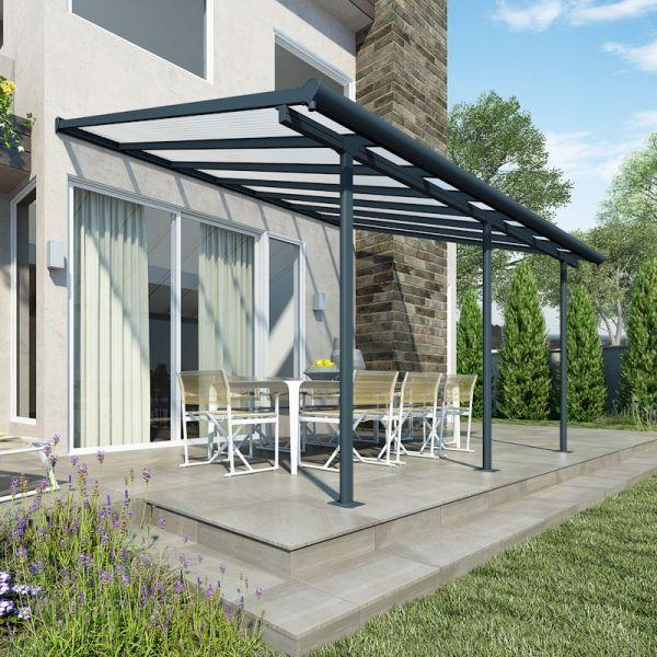 Palram Sierra Patio Cover 3m x 4.25m Grey Clear