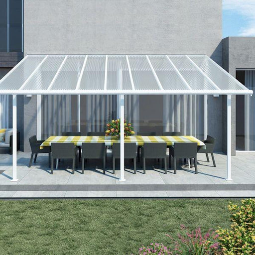 Palram Sierra Patio Cover 3m x 5.46m White Clear