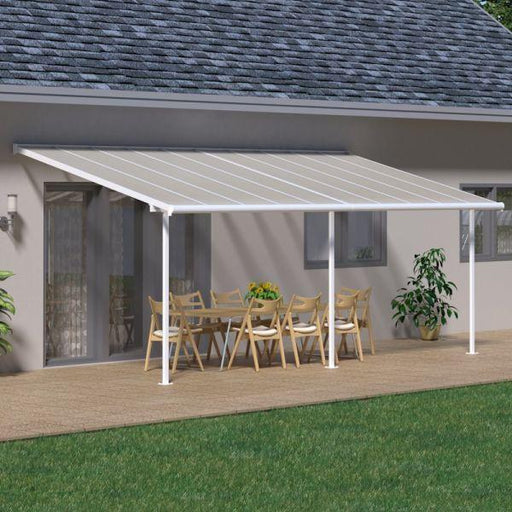 Palram Sierra Patio Cover 3m x 8.51m White Clear