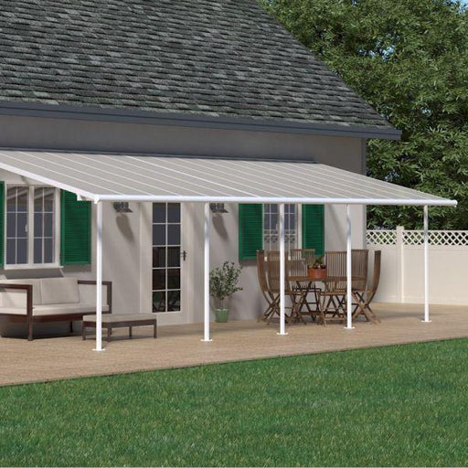 Palram Sierra Patio Cover 3m x 9.15m White Clear