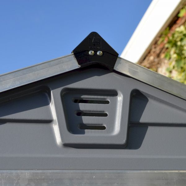 Palram Skylight Shed 6x12 Dark Grey