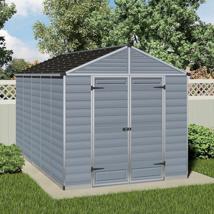 Palram Skylight Shed 8x12 Dark Grey