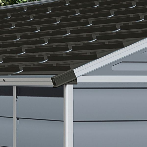 Palram Skylight Shed 8x20 Dark Grey