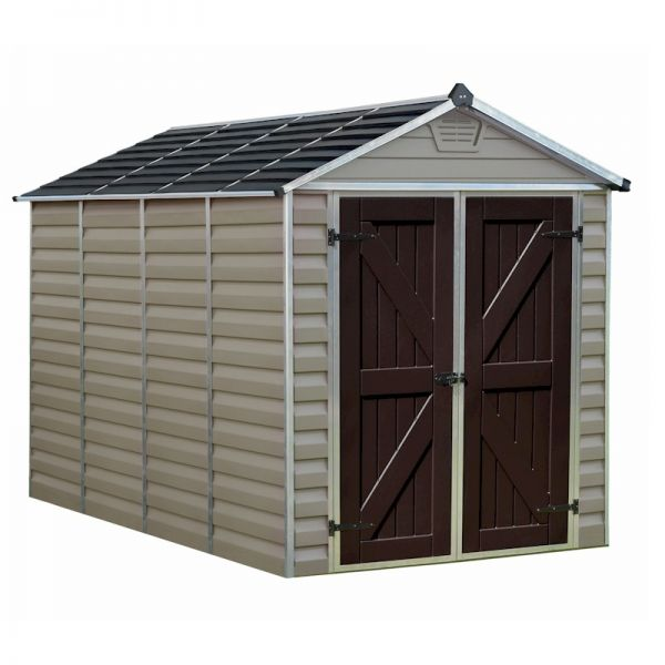Palram Skylight Shed 6x10 Tan
