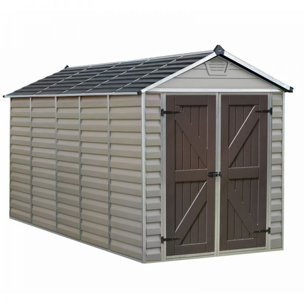 Palram Skylight Shed 6x12 Tan