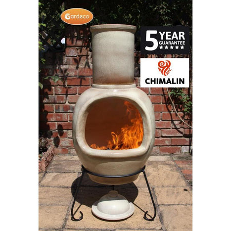 Asteria XL Chimalin AFC chimenea in glazed cappucino