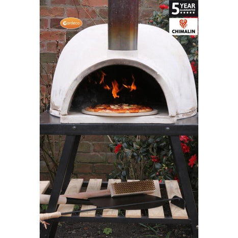 Pizzaro Chimalin AFC pizza oven in natural clay finish