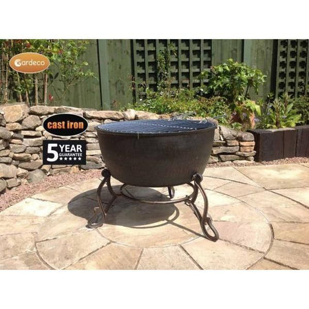 Meredir XL cast iron fire bowl