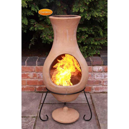 Gardeco Large Air Chimenea in Natural Terracotta