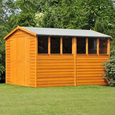 Shire Overlap Garden Shed 10x10 with Double Doors