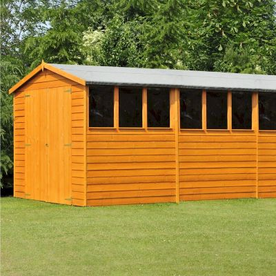 Shire Overlap Garden Shed 10x15 with Double Doors