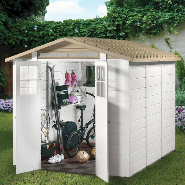Shire Tuscany EVO 240 Double Door Plastic Shed