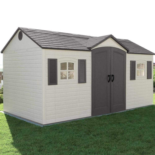 Lifetime Single Entrance Plastic Shed 15X8