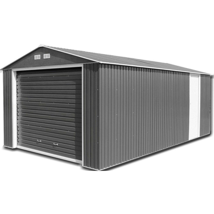 Sapphire Olympian Anthracite 12x26 Metal Garage