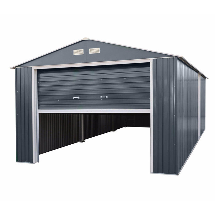Sapphire Olympian Anthracite 12x32 Metal Garage