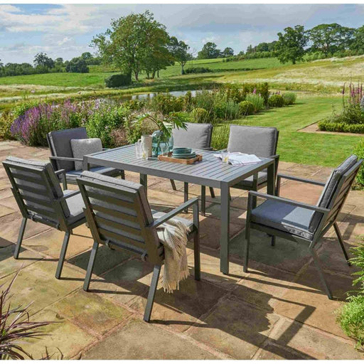 Norfolk Leisure Titchwell 6 Seat Dining Set - Grey