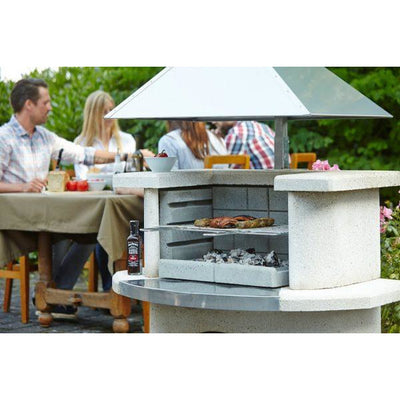 Buschbeck Venedig Masonry Barbecue with Stainless Steel Hood