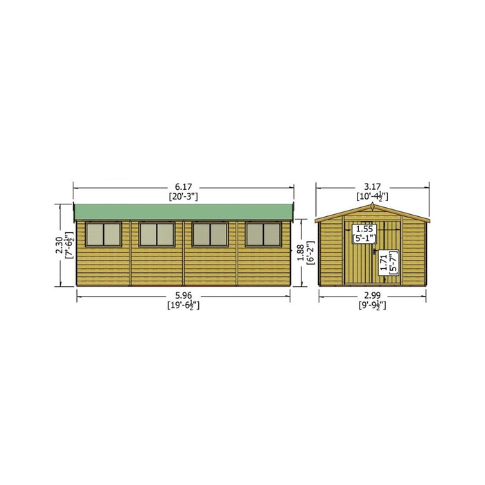 Shire Workspace Shed 10X20