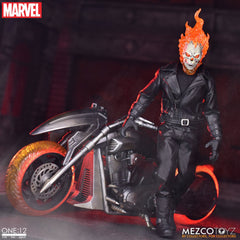 **Pre Order**Mezco One 12 Marvel Ghost Rider & Hell Cycle Set Action Figure
