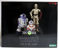Kotobukiya Star Wars C-3PO R2-D2 and BB-8 The Force Awakens Artfx+ Statue - Toyz in the Box