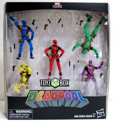 "Hasbro Toys Marvel Legends Deadpool's Rainbow Squad 3.75"" 5 Pack Action Figure - Toyz in the Box"