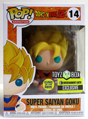 Pop Funko Dragonball Z Super Saiyan Goku GITD EE Exclusive Vinyl Figure - Toyz in the Box