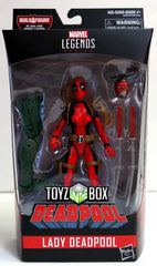 Hasbro Toys Marvel Legends Lady Deadpool from Sauron BAF Action Figure
