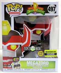 Funko Pop Power Rangers Megazord Metallic Glow in the Dark Exclusive 497 Vinyl Figure - Toyz in the Box
