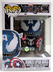 Funko Pop Marvel Venomized Captain America 364 Vinyl Figure - Toyz in the Box