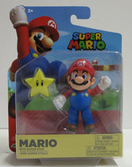 Jakks Pacific World of Nintendo Wave 14 Mario w/ Super Star Action Figure - Toyz in the Box