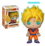 Pop Funko Dragonball Z Super Saiyan Goku Exclusive Glow In the Dark Vinyl Figure - Toyz in the Box