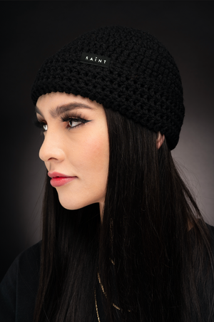 Mother Teresa Beanie / BLACK
