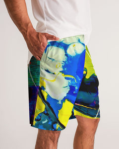 Men's Yellow Clouds - Sports Shorts - BY