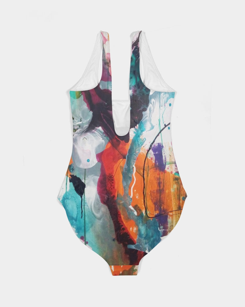 Woman's Abstract Rust - Swimsuit - FO