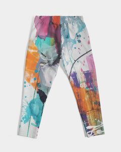 Men's Abstract Rust Jogging Bottoms - FO