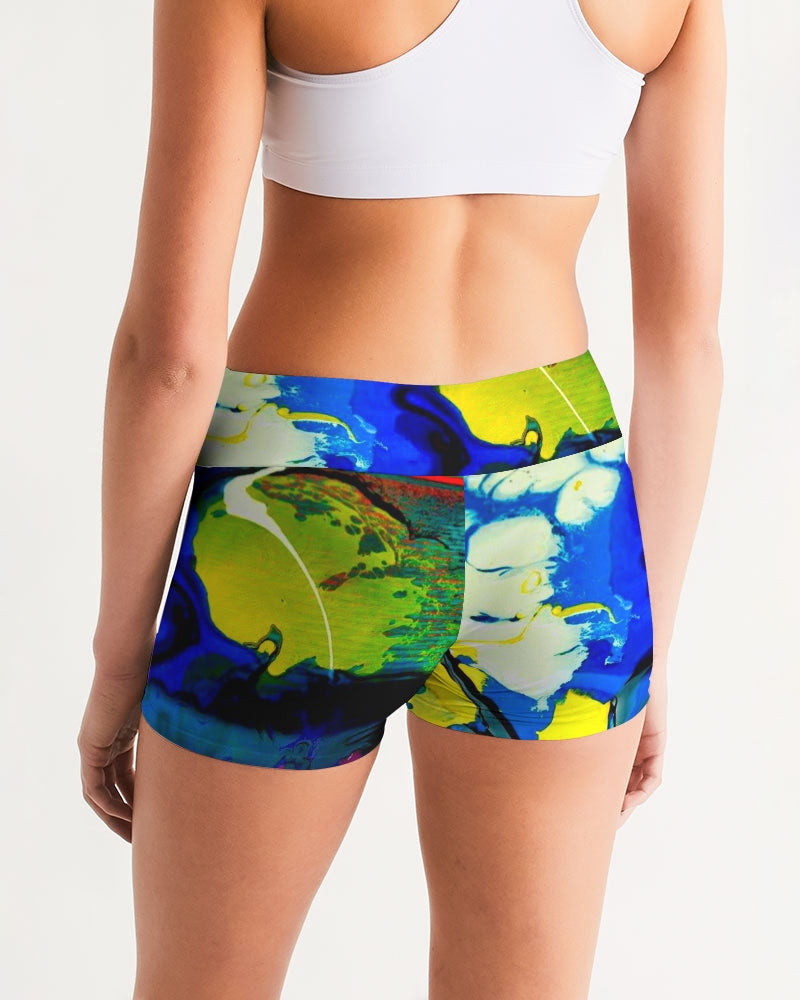 Women's Yellow Clouds - Sports Shorts - BY