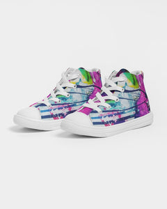 Kids Graff Splash -  High top Canvas Shoe - PS -  (Sizes in US)