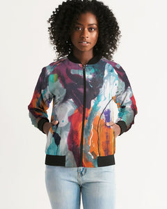 Women's Abstract Rust - Bomber Jacket - FO