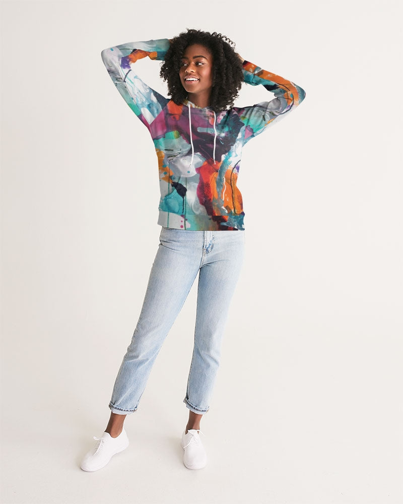 Woman's Abstract Rust - Hoodie - FO