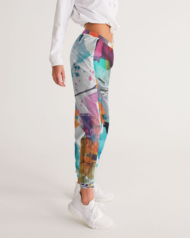 Woman's Abstract Rust Tracksuit Bottoms - FO