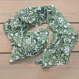 Green Printed Cotton Scarf