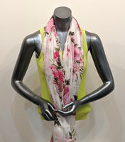 Pink Flowers Cotton scarf