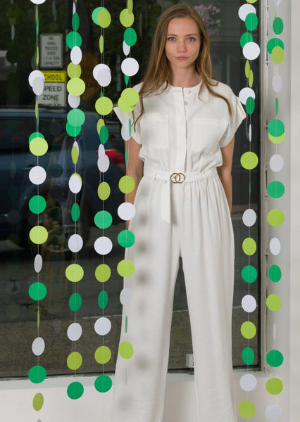 Belted White Jumpsuit