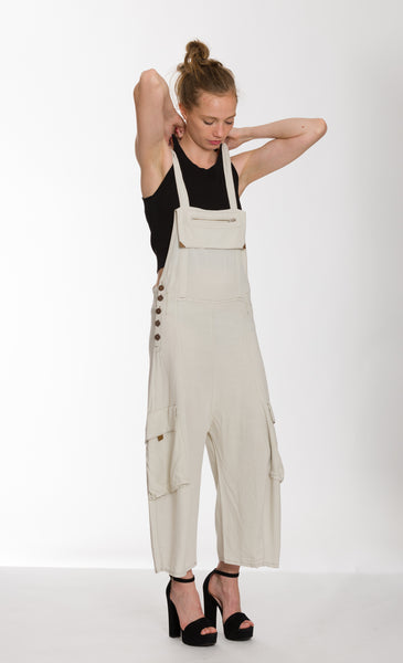 Leather Trim Jumpsuit