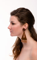 Triangle Raffia Clip Earrings