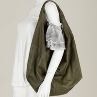 Green Leather Sack