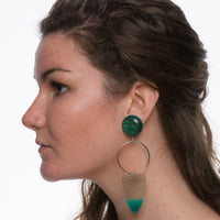 X-Long Green Pop Earrings